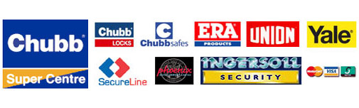 Brands at Mentor Lock - Chubb, Era, Union, Yale, Secureline, Phoenix, Ingersoll, Patlock, Aser, Wordlock
