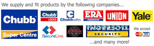 Brands at Mentor Lock - Chubb, Era, Union, Yale, Secureline, Phoenix, Ingersoll, Patlock, Aser, Wordlock